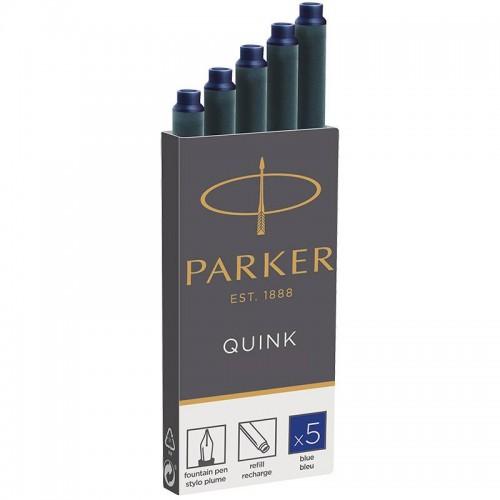 Синие картриджи Parker (Паркер) Quink Cartridges Blue 5шт в Омске