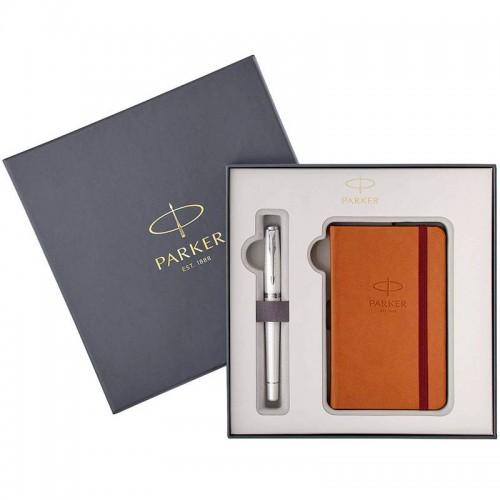 Набор с блокнотом и перьевой ручкой Parker (Паркер) Urban Premium Pearl Metal CT M в Омске