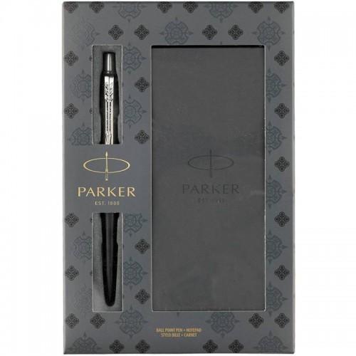 Подарочный набор из шариковой ручки Parker (Паркер) Jotter Core Bond Street Black CT и блокнота в Омске