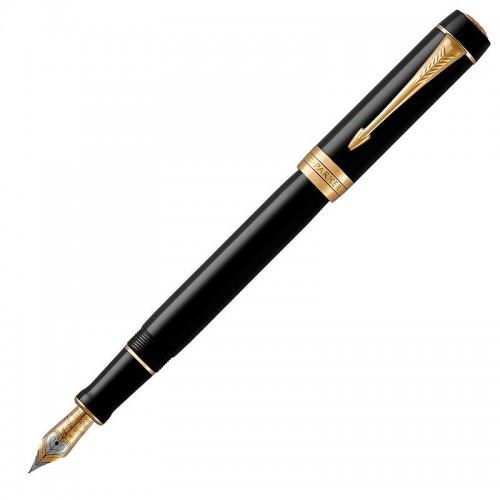 Перьевая ручка Parker (Паркер) Duofold Classic Centennial Black GT F в Омске