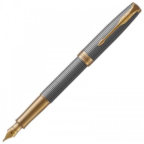 Перьевая ручка Parker (Паркер) Sonnet Luxury Cisele Silver GT F в Омске