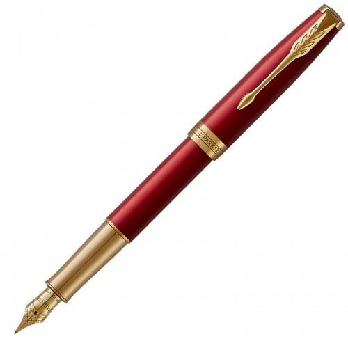 Перьевая ручка Parker (Паркер) Sonnet Core Red Lacquer GT F 18k в Омске