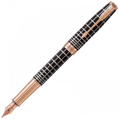 Перьевая ручка Parker (Паркер) Sonnet Premium Brown Rubber PGT F 18k в Омске