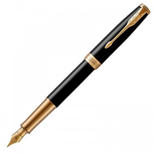 Перьевая ручка Parker (Паркер) Sonnet Core Black Lacquer GT F в Омске
