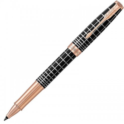 Ручка-роллер Parker (Паркер) Sonnet Premium Brown Rubber PGT в Омске