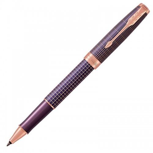 Ручка-роллер Parker (Паркер) Sonnet Luxury Cisele Purple Matrix PGT в Омске