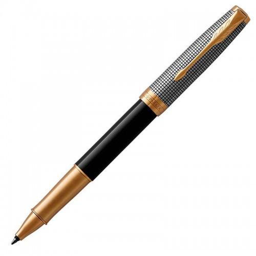 Ручка-роллер Parker (Паркер) Sonnet Premium Black Silver GT в Омске