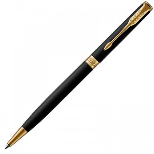 Шариковая ручка Parker (Паркер) Sonnet Core Slim Matte Black Lacquer GT в Омске