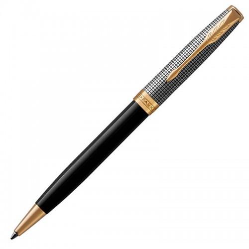 Шариковая ручка Parker (Паркер) Sonnet Premium Black Silver GT в Омске