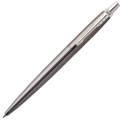 Шариковая ручка Parker (Паркер) Jotter Gel Premium Oxford Grey Pinstripe CT с гелевым стержнем в Омске