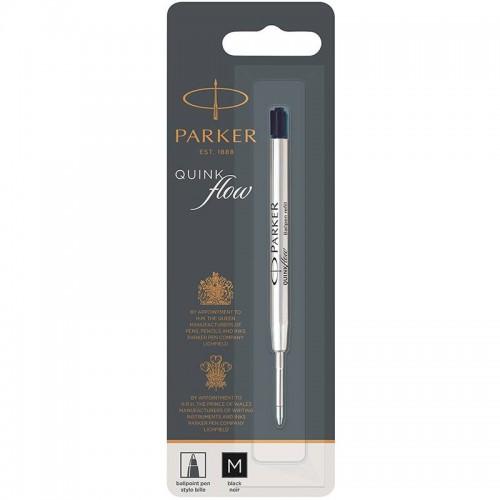 Чёрный шариковый стержень Parker Ball Pen Refill QuinkFlow Premium M Black в Омске